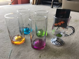 Set of (4) Coloured Glasses + New Lolita Glass Mug