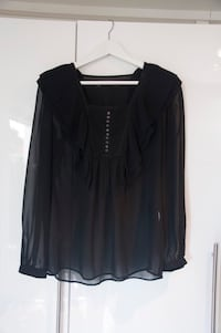 Black see trough shirt Zara bluse