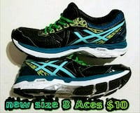pair of black-and-blue Asics running shoes Las Vegas, 89169