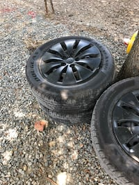 Hey im selling my rims and tires they are 215/60 r16 im asking $150 or make me an offered the tires are 5 months old they have 90%  thread Selma, 27576