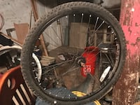 black and red bicycle wheel Baltimore, 21229