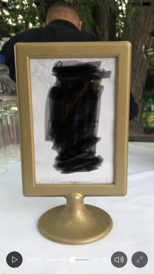 Gold Frame for table numbers or menus ffe55e2c-00f7-41bb-a9db-b3686faaf685