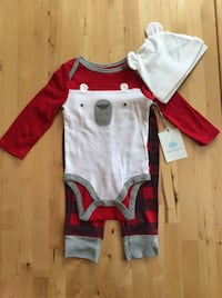 3PC Baby Boy Winter Bear Outfit 6-9mo Madison Heights, 48071