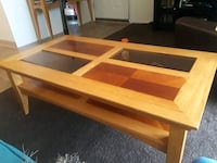 Wood and glass coffee table. Albuquerque, 87123