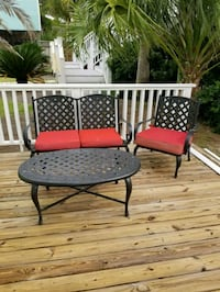 black and red patio table with chairs Orange Beach, 36561