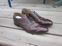 Vintage Eaton's Birkdale Dark Brown Leather Lace Up Dress Shoes - Size 10.5.   Winnipeg