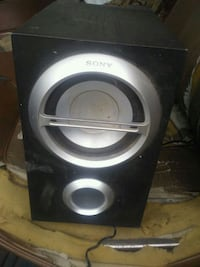 black and gray subwoofer speaker Victoria, V9A