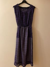 Purple zeebra maxi dress