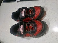 spiderman toddler light up shoes size 9