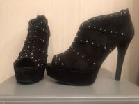 Black studded stiletto ankle booties Annandale, 22003