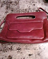 red leather 2-way bag Hamilton