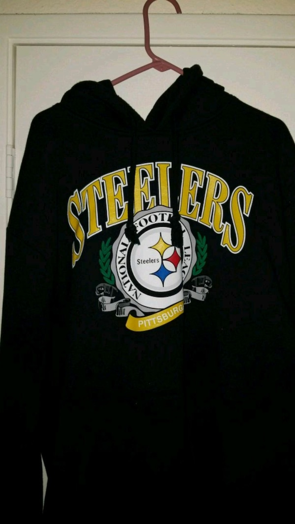 the best attitude f0eb8 3bd24 black and yellow Pittsburgh Steelers pullover hoodie