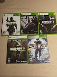 XBOX 360 Call of Duty game lot Williamsport
