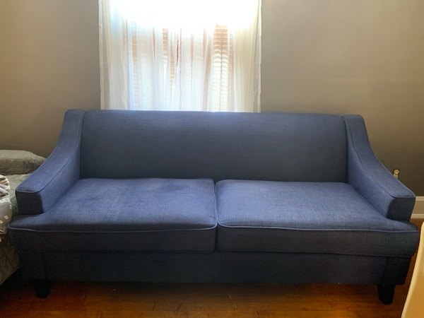 Blue couch, good condition