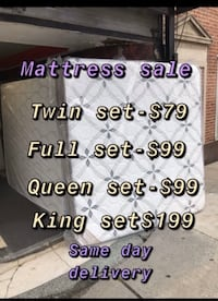 Mattress free box spring same day delivery  Beltsville, 20705