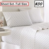 AJ- BRAND NEW- Skipjack 200 Thread Count Cotton Sheet Set Mississauga