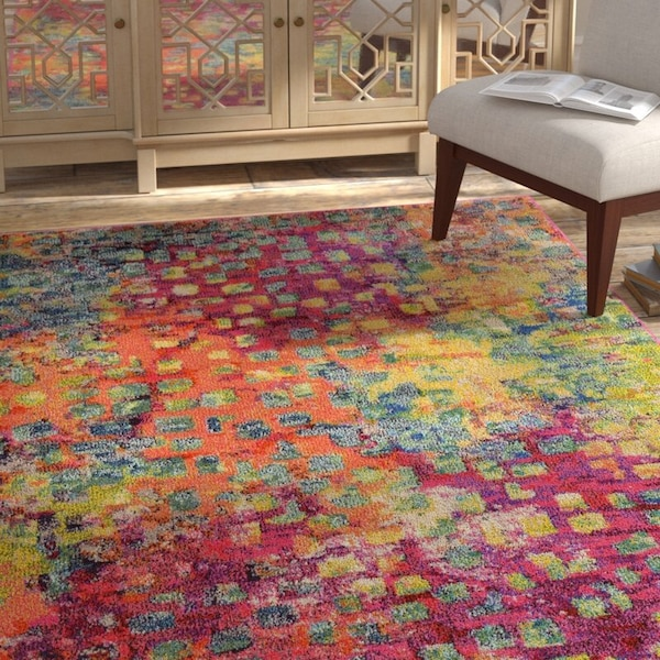 Massaoud Multi-coloured Area Rug 5' by 8' 20bf1887-d5c6-4705-9242-b090e7de5859
