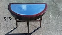 round black and brown wooden table Valdosta, 31601