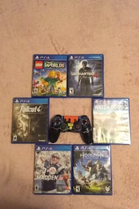 Ps4 games and cool controller(not use able)