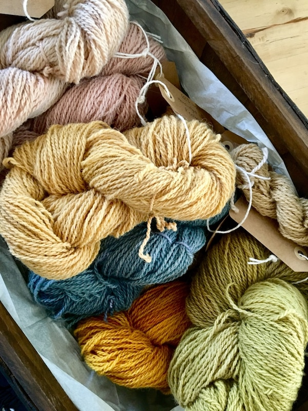 Natural hand-dyed yarns