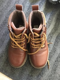 pair of brown leather work boots Delta, V4C 4J8