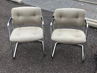CHAIRS, 2 OFFICE CHAIRS, GOOD CONDITION, VERY STUR