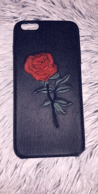 Black and red rose cell phone case iPhone 6 Plus 6s Plus Apple Valley, 92308