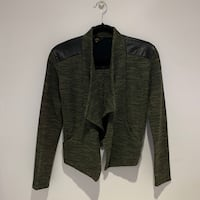 Jack by BB Dakota | Green Draped Front Cardigan Toronto, M1V 2J4