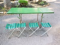 VINTAGE camp table with stools Thurmont, 21788