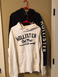 Both have been worn once.   White Hoodie size Large- $20 Blue Hoodie size Medium-$20