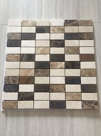 Marble and copper mosaic tiles Surrey, V3S