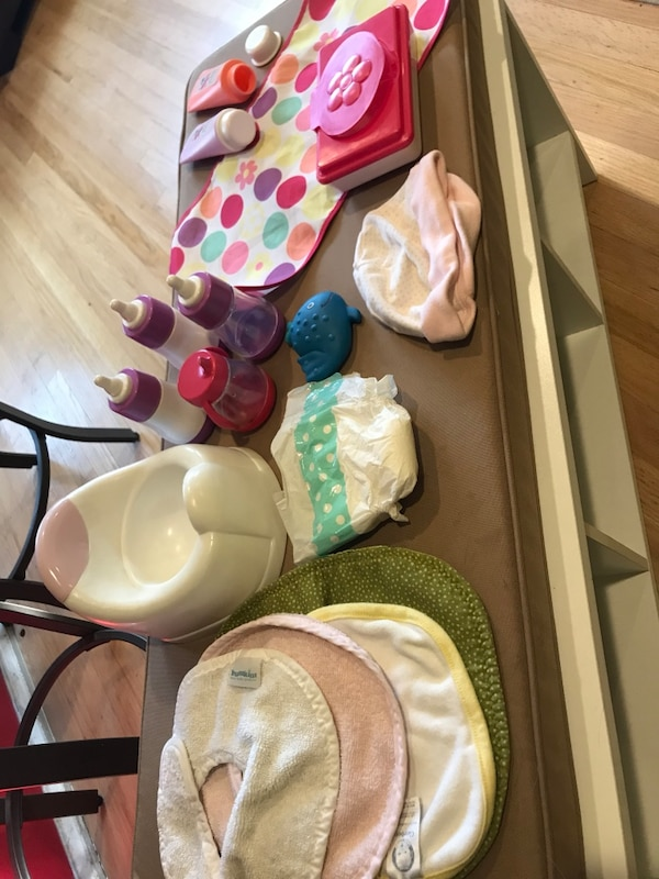 Baby doll care items
