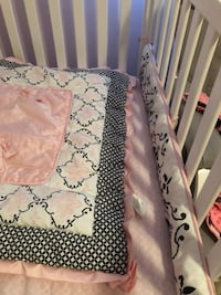 White wooden crib, mattress, sheets, bumper, and mobile, never used.. I still co-sleep  Macomb, 48042