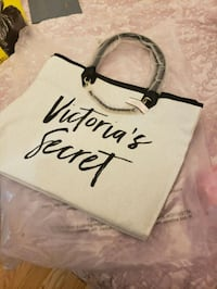 white and black Victoria's Secret Pink backpack Toronto, M9B 1S9