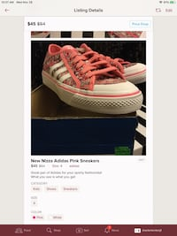 NEW Girls Pink Adidas Size 4 Erie, 16506