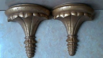 "11"" Gold Wall Sconces, Shelf Sconces, Wall Decor"