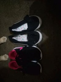 Never worn shoes Nikes and cute black slip ons Locust Grove