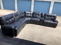 Power Reclining Sectional Sofa Couch With Bluetooth Speakers CHICAGO