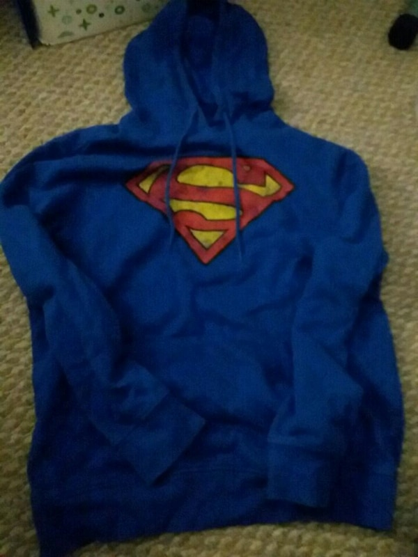 Blue superman hoodie size small