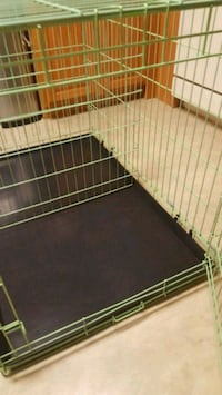 Dog crate with training divider
