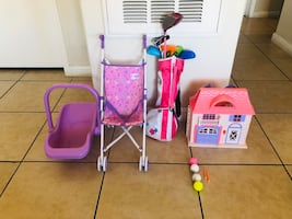 Toy Play Stroller and golf club for kid