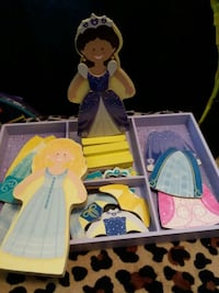 two white and blue Disney Princess themed table Omaha, 68107