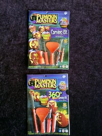 two Pumpkin Masters Carving Kit boxes 1020 mi