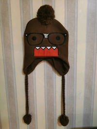 """""""DOMO"""" Adult Brown Beanie Knit Hat"""