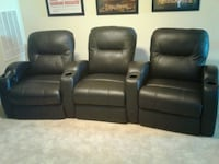 Brown leather theater elec recliner chairs 3 Kyle, 78640