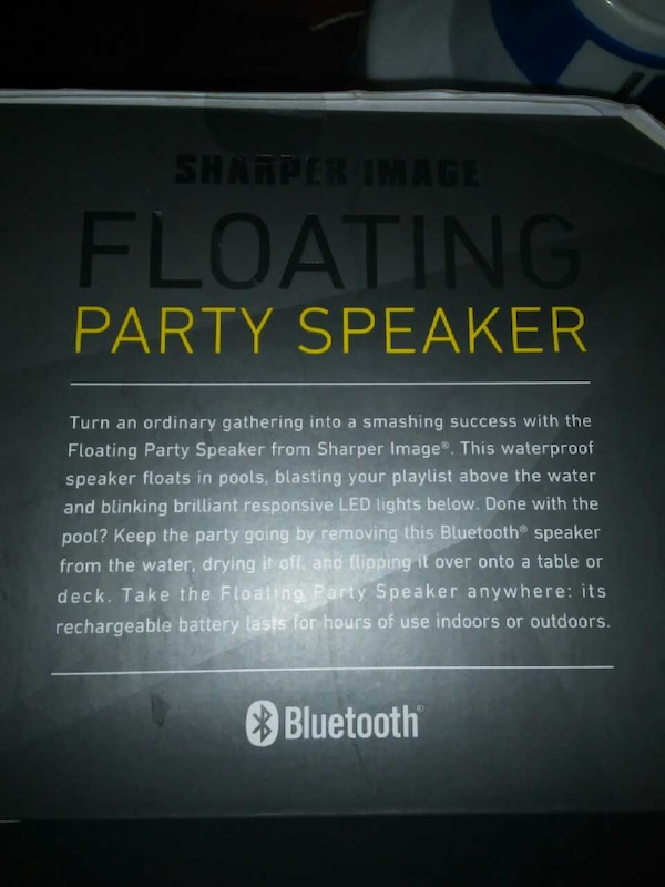 Used Sharper Image Floating Bluetooth Speaker And More For Sale In