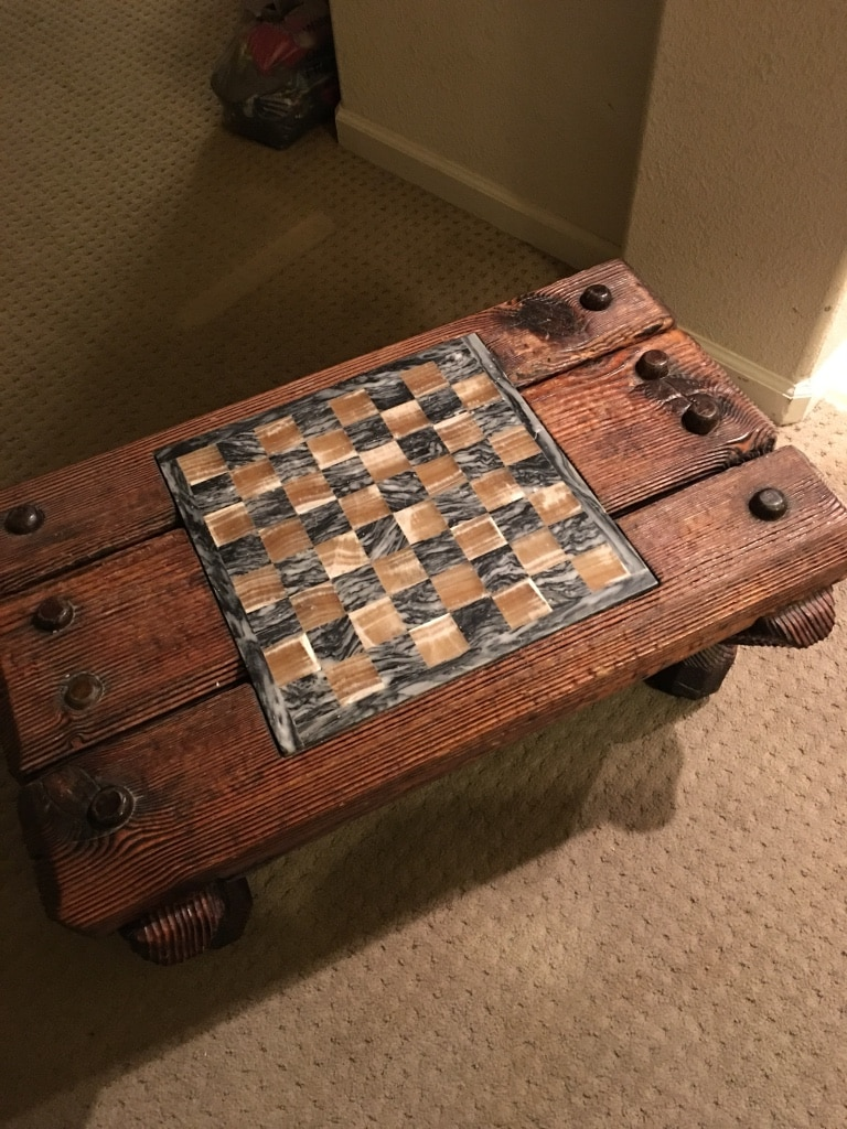 Rustic Chess Table OBO!