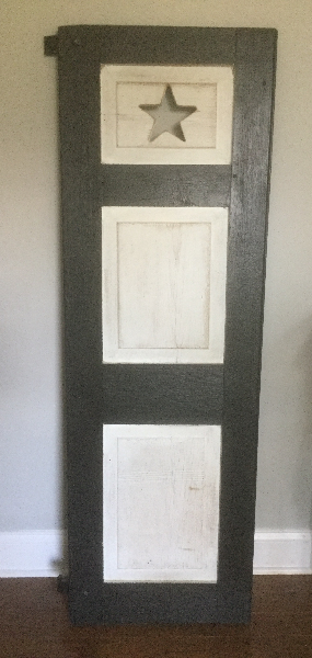 black and white wooden door CARY
