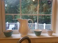 Pitcher and bowls