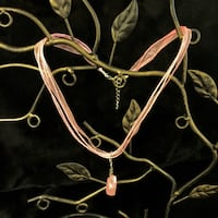 Pink Crystal on Chiffon Ribbon Necklace San Antonio, 78209